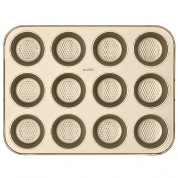 Eetrite Muffin Pan 12 Cup Gold
