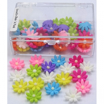 Mixed Colours Daisy Icing