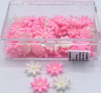 Pink Mix Daisy Icing