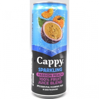 Cappy Sparkling Passion Peach Drink 330ml (24)
