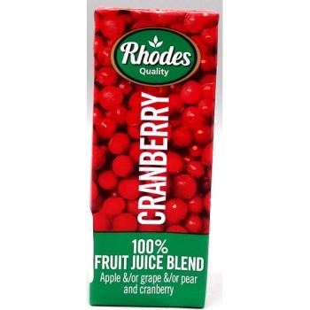 Rhodes Cranberry Fruit Juice 200ml (24)
