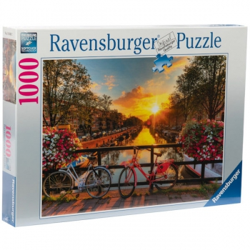 Ravensburger Puzzles 1000Pce Bicycles Amsterdam
