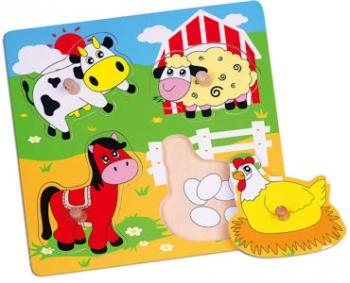 Viga Knob Puzzle Farm Animals