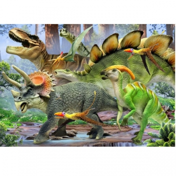 RGS Puzzles Dinosaurs in the Forest 48Pce