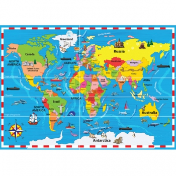 RGS Puzzles World Map 50Pce