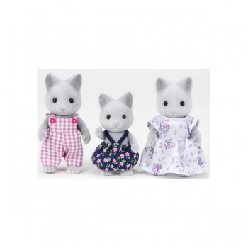 Sylvanian Families Grey Cat Family