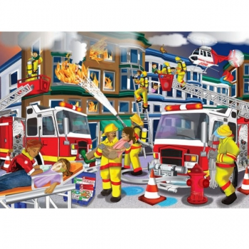 RGS Puzzle Fire Fighters 100pcs