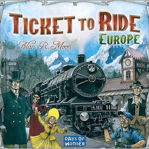 Board Game Ticket To Ride Europe