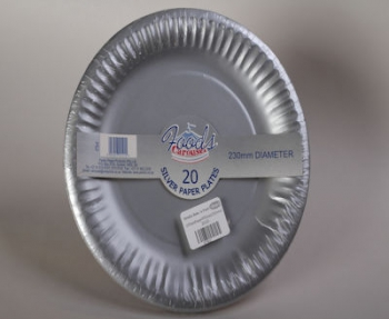 230 mm Silver Paper Plate (20)