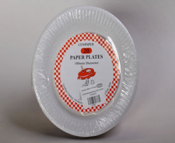 180 mm WB White Paper Plate (20)