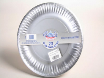180mm Silver Paper Plate (5)