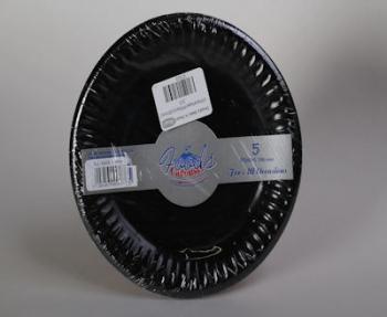 180 mm Black Paper Plate (5)