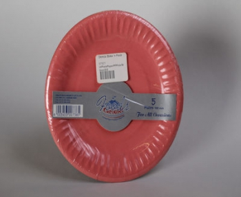 180 mm Pink Paper Plate (5)