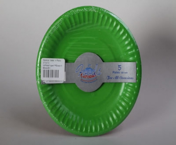 180 mm Green Paper Plate (5)