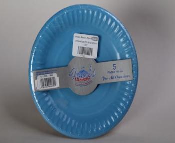 180 mm Light Blue Paper Plate (5)