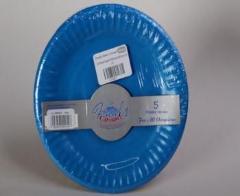 180 mm Blue Paper Plate (5)