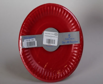 180 mm Red Paper Plate (5)
