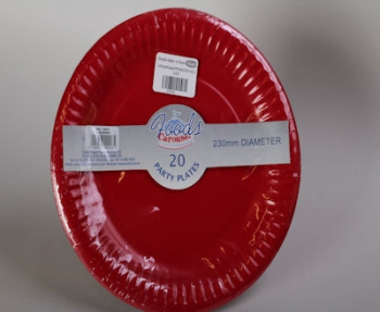 230 mm Red Paper Plate (20)