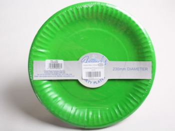 230 mm Green Paper Plate (20)