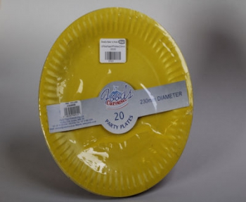 230 mm Yellow Paper Plate (20)