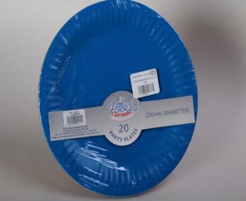 230 mm Blue Paper Plate (20)