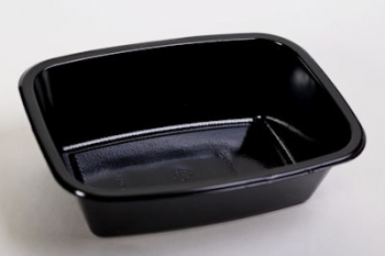 P0431 Black Deep Lasagne Plastic Tub (500)