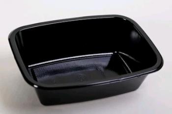 P0431 Black Deep Lasagne Plastic Tub (10)